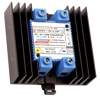 150W converter dcdc - mounting on dinrail or wall - case 3