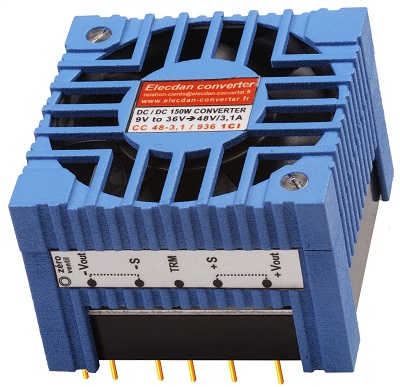 150W converter dcdc - mounting on printed circuit 1CI - built-in fan