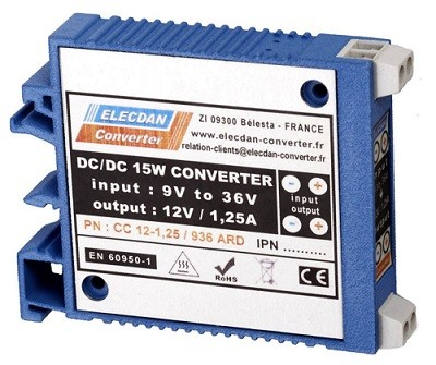 15W dcdc converter with very large input range - mounting on dinrail or wall ARD