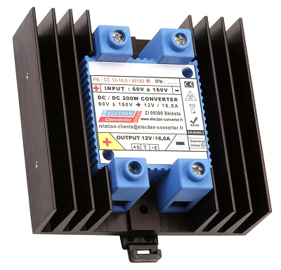 200W dcdc converter - input 60 to 160V - mounting on dinrail or wall 3