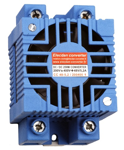 250W dcdc converter with fan - mounting on dinrail or wall 1