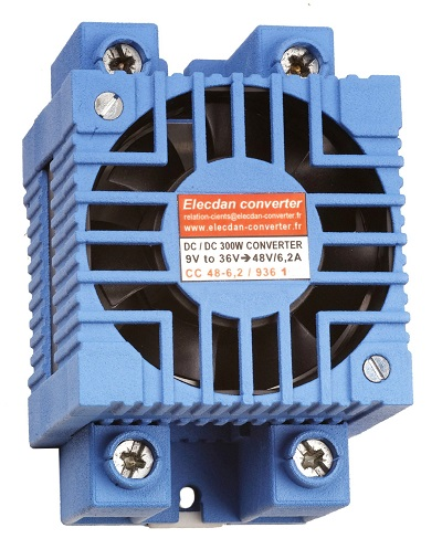 300W dcdc converter with fan - mounting on dinrail or wall 1