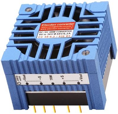 300W dcdc converter with fan - mounting on printed circuit 1CI