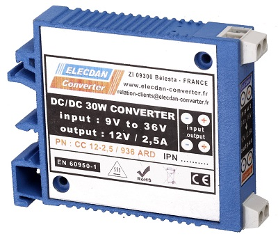 30W dcdc converter with very large input range - mounting on dinrail or wall ARD