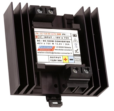 500W dcdc converter - mounting on dinrail or wall 3HR