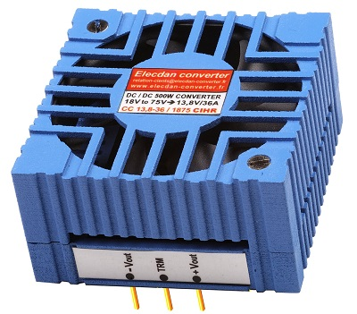 500W dcdc converter with fan - mounting on dinrail or wall 1CIHR