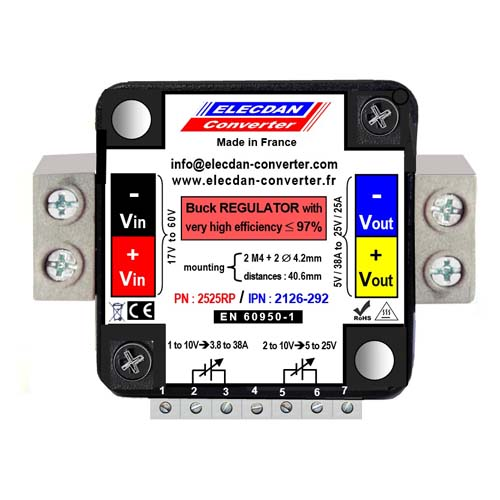 DC-DC very high efficiency BUCK controller small size with output up to 625W