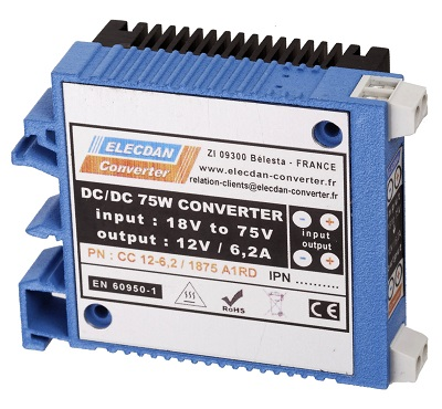75W converter dcdc - mounting on dinrail or wall A1RD