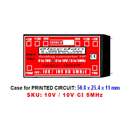 Mounting on Printed Circuit - voltage voltage high frequency converter