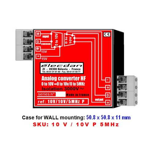 Mounting on WALL - voltage voltage high frequency converter