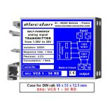DIN-rail mounted Voltage-voltage transmitter, isolated converter: 1.25V to 30V into isolated 1.25V to 30V
