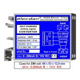 Mounting on DIN rail - self-powered isolated converter - 0 to 200mA into 0 to 10V