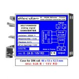 Mounting on DIN rail - self-powered isolated converter - 0 to 2A into 0 to 10V