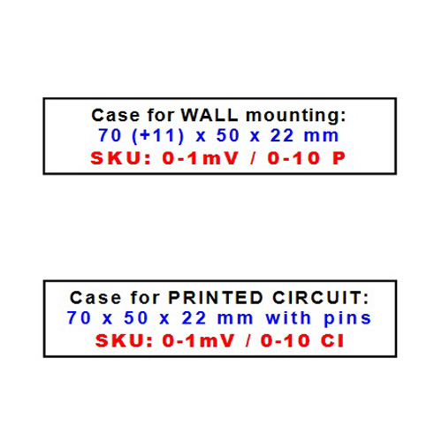 Mounting on wall or printed circuit - isolated signal converter to measure low voltage