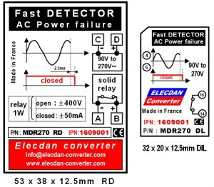 Fast detector of AC power failure