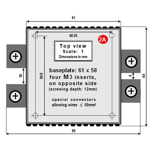 Miniature 1.5kW step-up voltage regulator - 48V batttery into 72V 21A - standard case