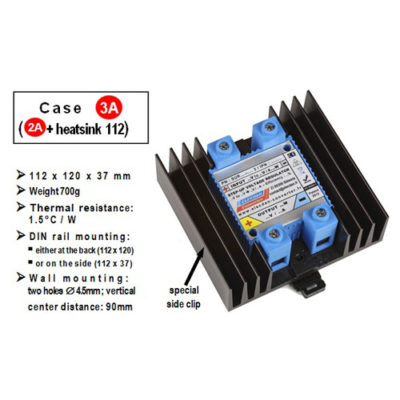 Miniature 1.5kW step-up voltage regulator - 48V batttery into 72V 21A - with heatsink